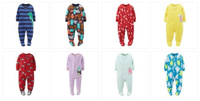 Carter's Fleece Footed Pajamas (all different sizes) Only $5.55 Shipped (Reg $20)
