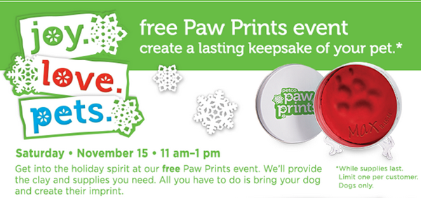 paw *HOT* Petco: FREE Paw Print Ornament/Keepsake (TODAY ONLY!)