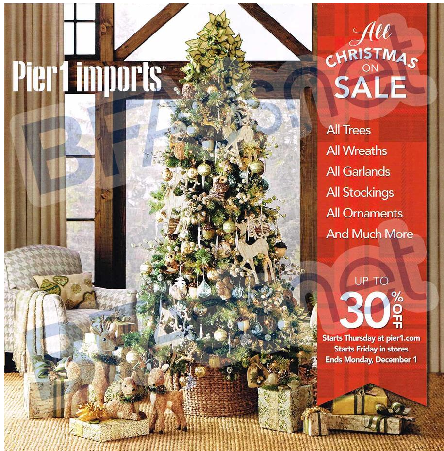 Pier One Christmas.Pier 1 Imports Black Friday Ad 2014