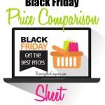 Black Friday Price Comparison Chart 2014