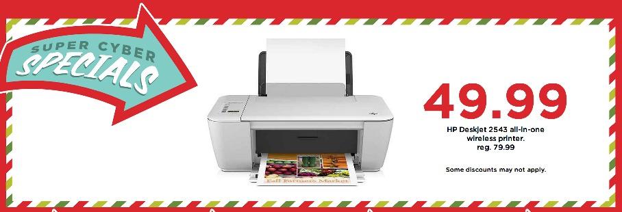 HP Deskjet 2543 All in One Wireless Printer ONLY $39.99 Shipped (Reg. $79.99)!