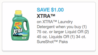 screen shot 2014 11 07 at 10 55 53 am 2 Xtra Laundry Detergent As Low As $0.99 at CVS, Rite Aid and Walgreens (Thru 11/15)!