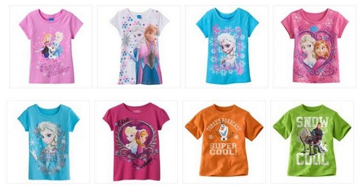 *HOT* Disney Frozen Tees ONLY $4.79 (Reg. $20)! BOYS AND GIRLS!