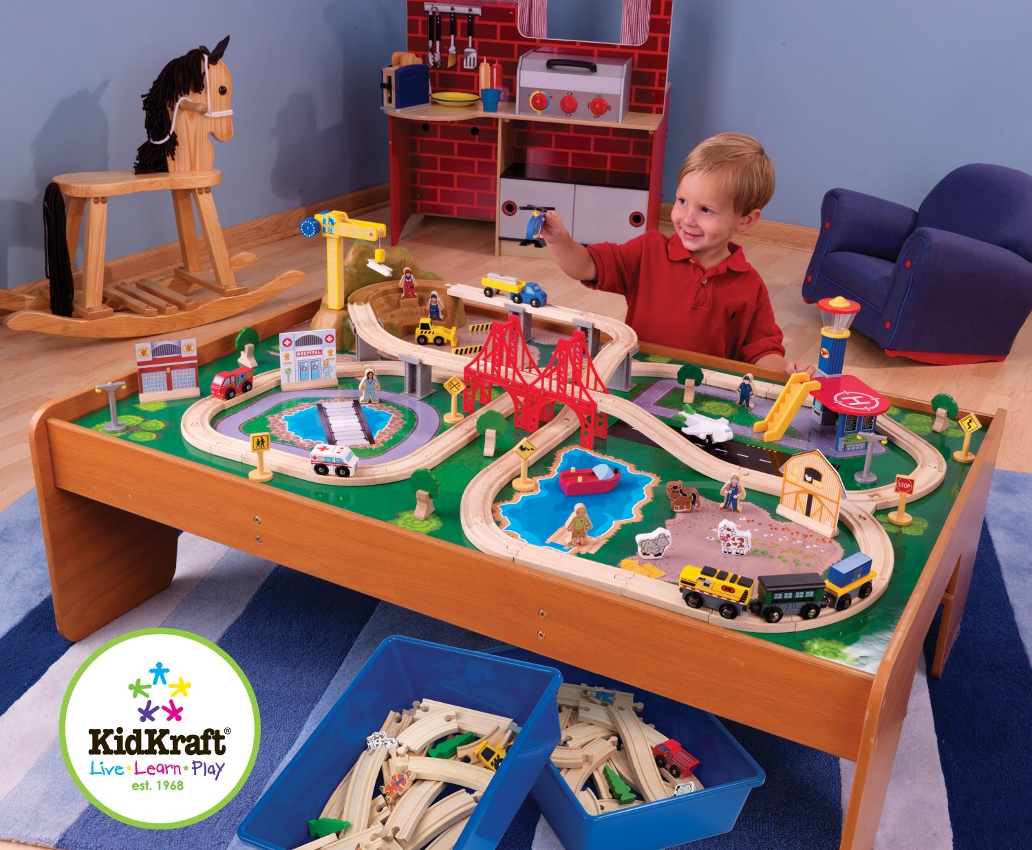 You can snag this KidKraft Ride Around Train Set and Table ...  sc 1 st  Raining Hot Coupons & HOT* KidKraft Ride Around Train Set and Table Only $89 + FREE ...