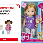 *HOT* Baby Alive Brushy Brushy Baby Doll Only $10.79 at Target (TODAY ONLY!)