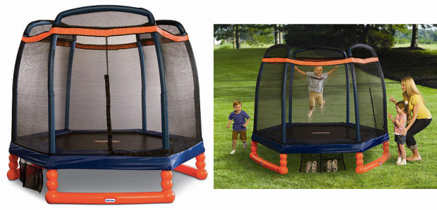 EXPIRES TODAY. Walmart has the Little Tikes Climb 'n Slide 7-Foot Trampoline w/ Enclosure for a low $ Free 2 Day Shipping. Amazon has it for the same price. Save 24% off the $ retail price. Two zipper enclosures to promote safe play; Durable, high-quality pad protector covers the safety springs.