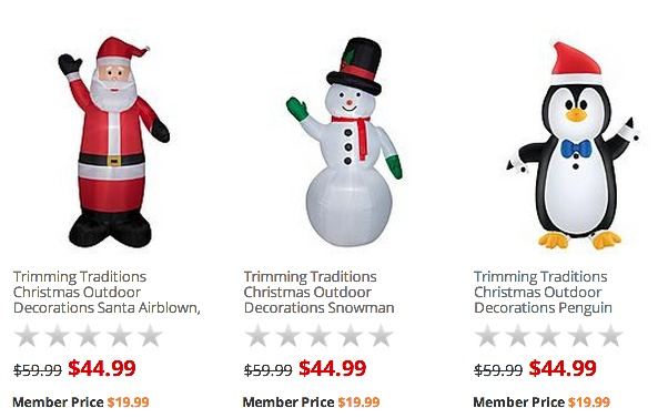 *HOT* Christmas Outdoor 6ft. Airblown Decorations ONLY $19.99 Shipped (Reg. $59.99!)