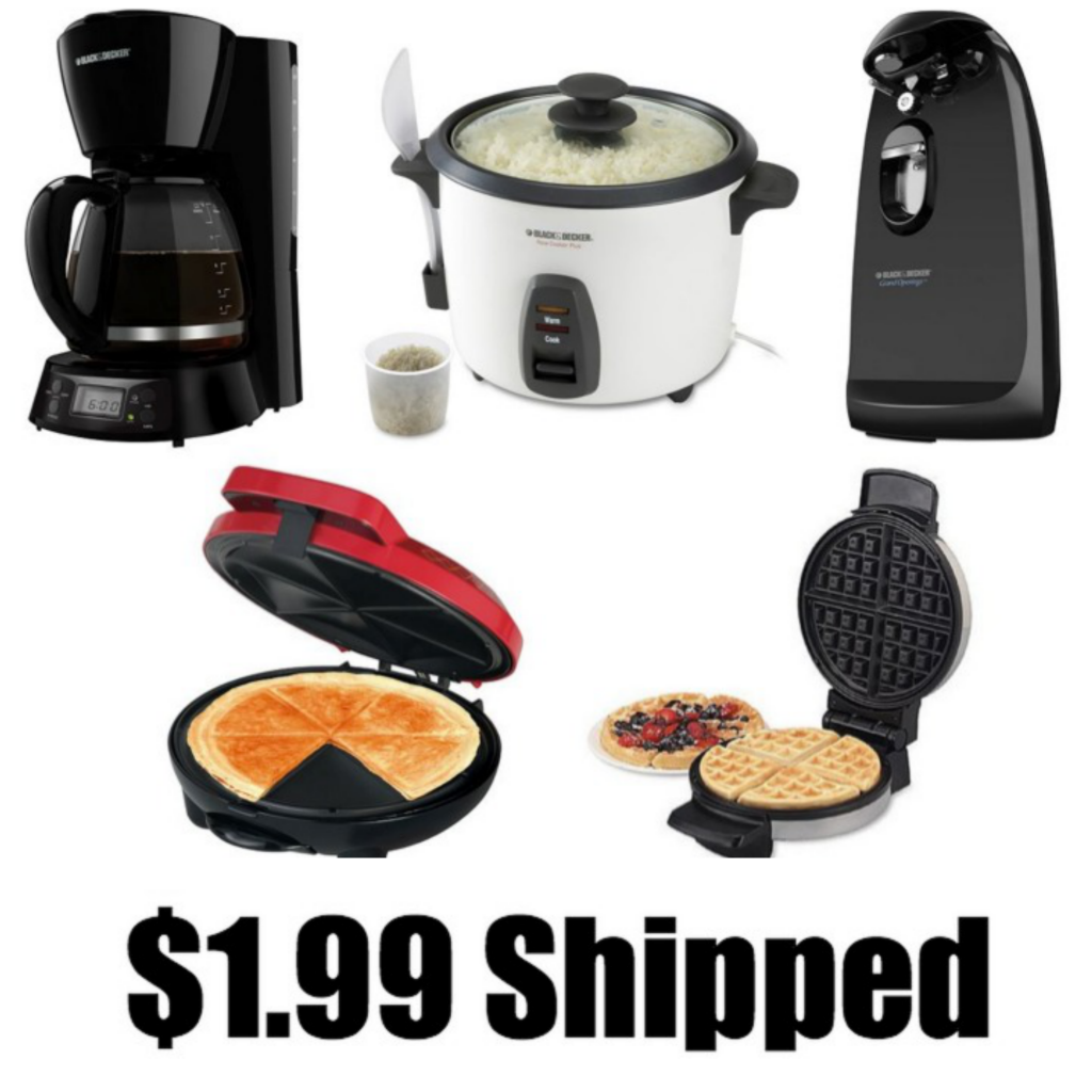 waa 1024x1024 *HOT* Rice Cooker, Coffemaker, Can Opener, Quesadilla Maker, Waffle Maker, Toaster ONLY $1.99 each Shipped (Reg. $39.99!)