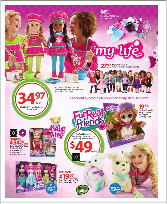 Walmart Top Toys 2014 : Walmart top toys wish list book