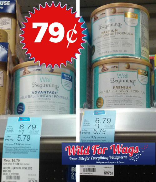 well beginnings formula7w Walgreens: Well Beginnings Infant Formula Only $0.79