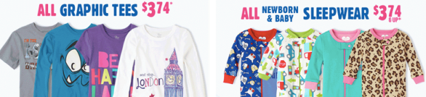 GRAP *HOT* The Childrens Place: ALL Denim $5.99 AND Sleepwear and Graphic Tees ONLY $3.74!