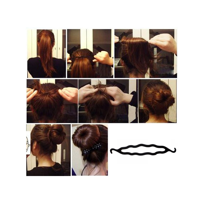 b1 FREE Hair Twist Styling Clip Stick Bun Maker Braid Tool + FREE shipping!