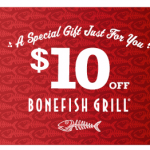 Bonefish Grill: $10 off Dinner (No Minimum Purchase!)