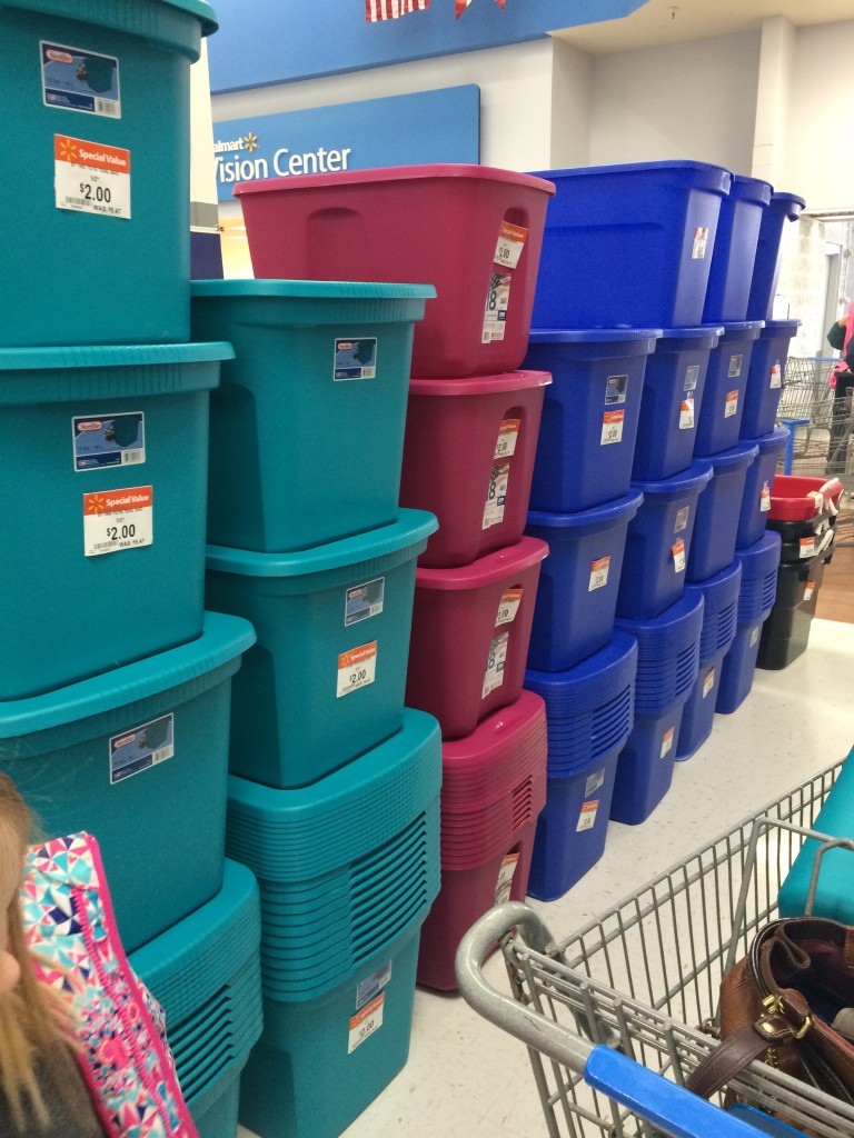 Walmart Hot Storage Bins With Lids Only 2