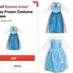 50% off Disney Frozen Costume Dresses = ONLY $8.40 at Target!