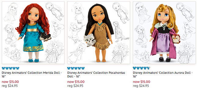 l Disney Store: Select Disney Animator's Collection Dolls Only $15 Shipped (Today Only)