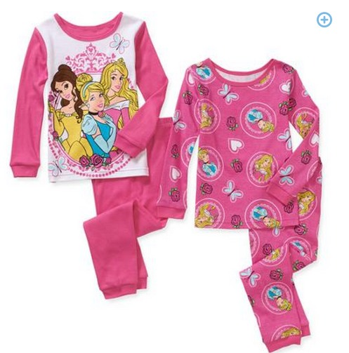 Baby and Toddler Girl Character Cotton Pajamas ONLY $4!