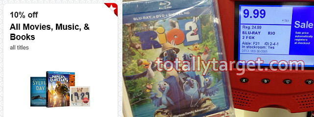 rio 2 Target: Rio 2 Bluray + DVD + Digital Combo Pack Only $3.99
