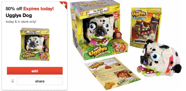 screen shot 2014 12 15 at 6 18 40 am Target: Ugglys Pet Dog Only $7.49 (Today Only)