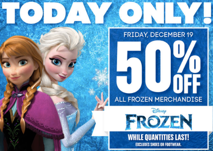 screen shot 2014 12 19 at 9 19 01 am Gordmans: 50% off Frozen Merchandise ~ Items As Low As $1.49 (Today Only)