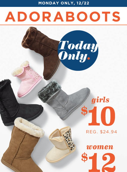 screen shot 2014 12 22 at 5 49 01 am Old Navy: Boots As Low As $10 & FREE $10 iTunes Card wyb $75 in Gift Cards (Today Only)