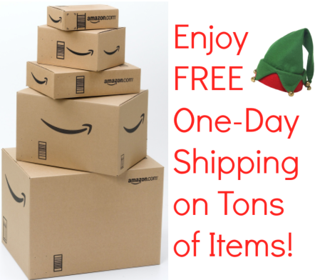 ship *HOT* Amazon: FREE One Day shipping on HUNDREDS of items for EVERYONE! (Get in time for Christmas)