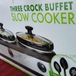 *HOT* Kohl's: TRU Three Crock Buffet Slow Cooker ONLY $9.80 (Reg. $69.99)!
