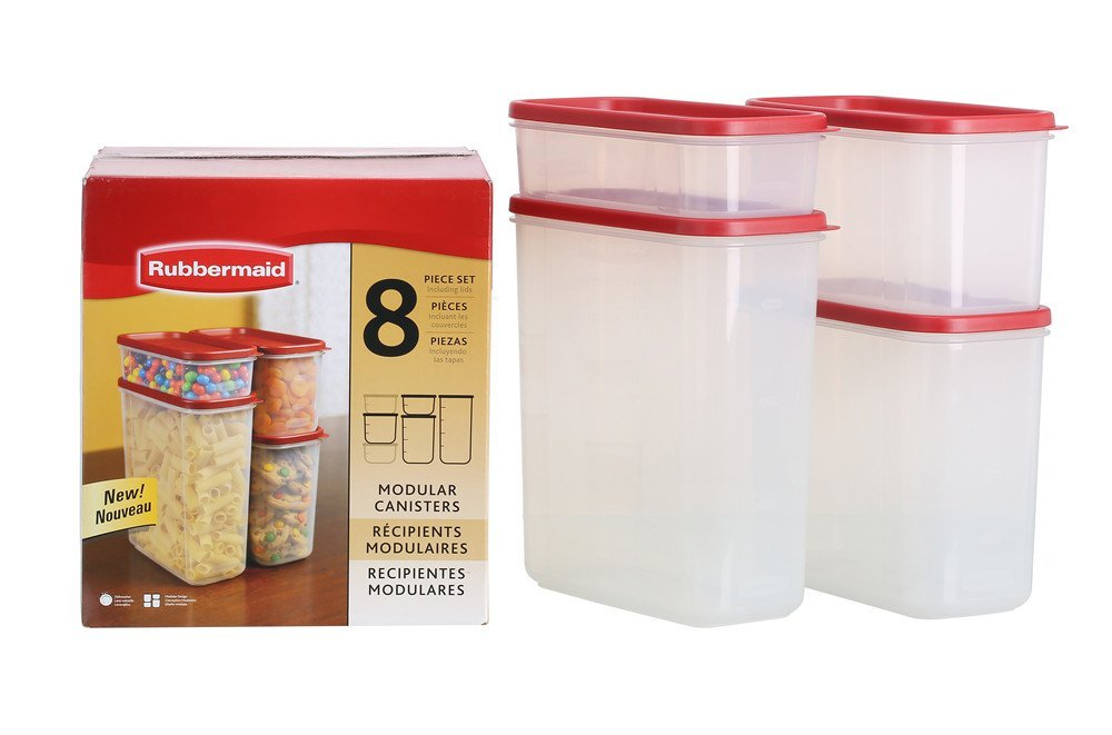 Amazon HOT 5 Star Rubbermaid Dry Food Storage Container 8 Piece