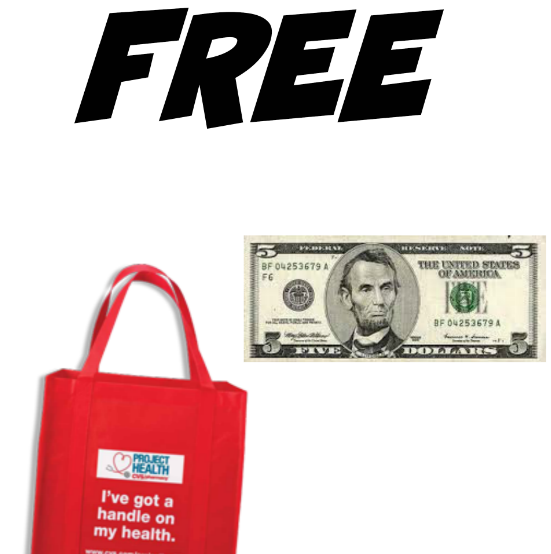cvs  free  5 and free tote bag