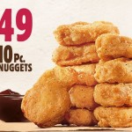 Burger King: 10-Piece Chicken Nuggets ONLY $1.49!
