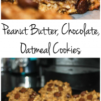 Peanut Butter, Chocolate, Oatmeal Cookies