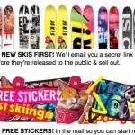 FREE J Skis Stickers + FREE Shipping