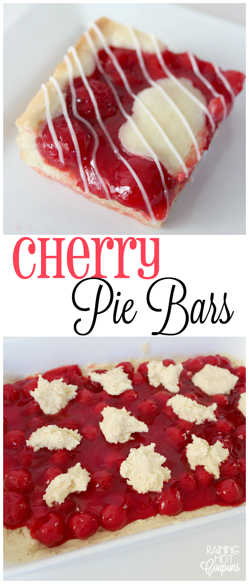 cherry pie bars collage