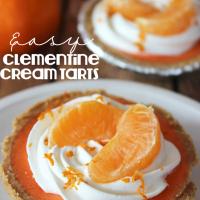 clementine cream tarts