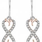 Amazon: Diamond Infinity Dangle Heart Earrings in Sterling Silver Two Tone Only $99 Shipped (Reg. $360)
