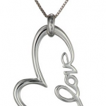 """Amazon: Sterling Silver """"Love"""" Heart Pendant Necklace Only $21.14 (Reg. $75)"""