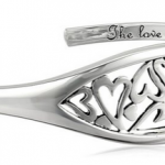 """Amazon: Sterling Silver """"The Love Between A Mother and Daughter Knows No Distance"""" Heart Cuff Bracelet Only $42.76 Shipped (Reg. $135)"""