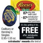 Free Hershey's Singles Or Cadbury Creme Eggs at CVS (Beginning 3/1)