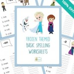 Free Frozen Theme Basic Spelling Worksheets!