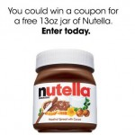 Enter to Win a FREE Full-Size 13 oz Jar of Nutella