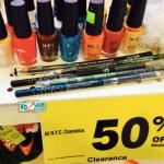 *HOT* All NYC Cosmetics 50% = ONLY $0.49 Eyeliner, Sharpener, Nail Polish, etc