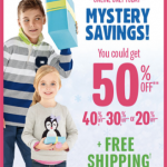 The Children's Place: Up to 50% off Mystery Savings + FREE Shipping (Today Only)