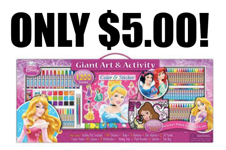 head over to walmart where you can score this adorable artistic studios disney princess art and activity collection set for just 5
