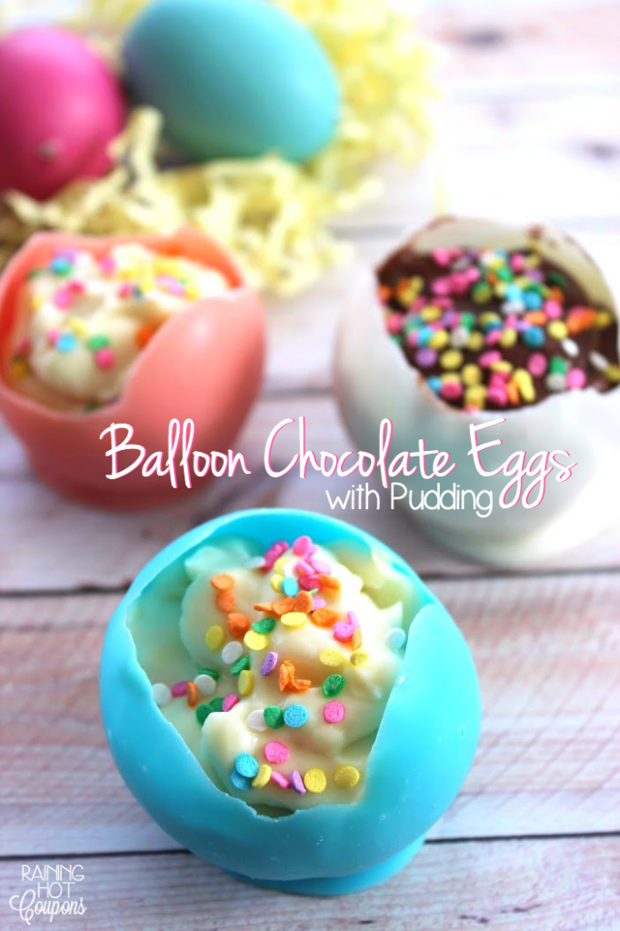 Balloon Chocolate Eggs with Pudding