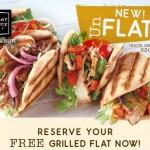 Corner Bakery: FREE Grilled Flat Southwest Chicken, Chicken Caesar, BBQ Pork or Caprese (NO Purchase Required!)