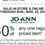 Jo-Anne Fabrics: *HOT* 60% off One Regular-Priced Item Coupon!