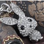 Amazon:  Big Ear Floppy Bunny Rabbit Crystal Rhinestone Black Eyed Necklace Only $12.99 Shipped