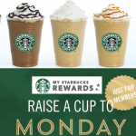 Starbucks Happy Monday *HOT* DEALS = Saving on Drinks and Food (50% off Drinks, 30% off Food and more!)