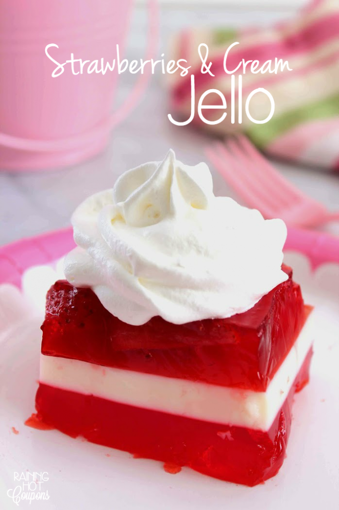 strawberries and cream Jello