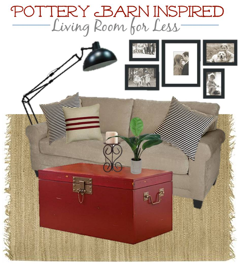 1Pottery Barn Inspired Living Room Look for MUCH LESS . Pottery Barn Inspired Living Rooms. Home Design Ideas